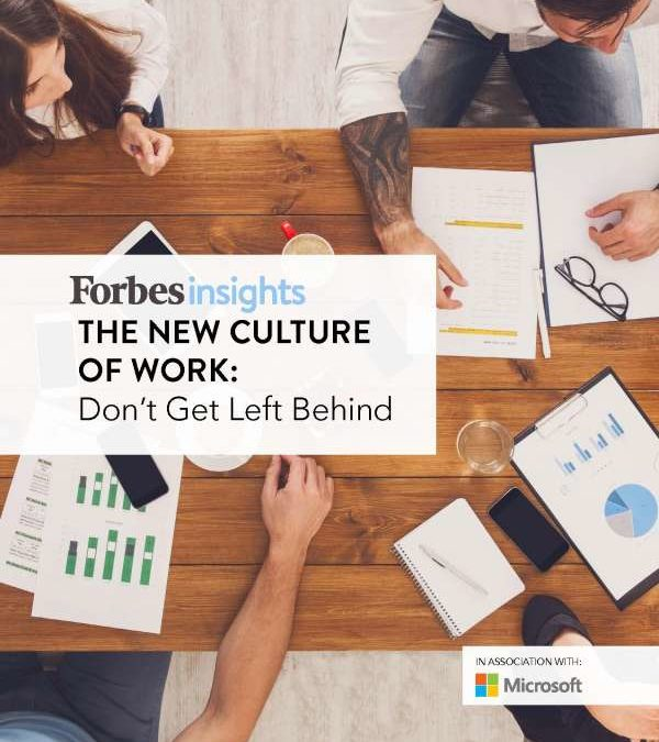 The New Culture of Work: Don't Get Left Behind